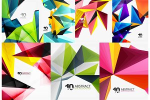Triangle digital abstract background collection