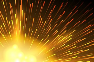 Yellow star exploding background