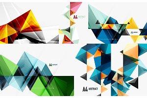 Set of modern geometric templates