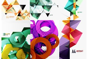 Set of modern geometric templates