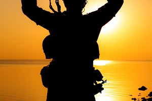 Army soldier silhouette