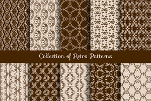 Vintage floral seamless pattern set