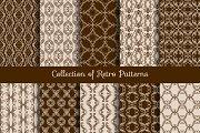 Vintage floral seamless pattern set
