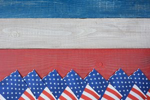 Napkins on Red, White and Blue Table