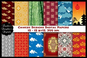 Chinese Designs Digital Papers