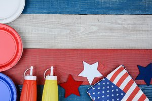 Patriotic Holiday Picnic Table