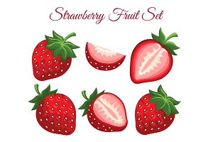 Strawberry organic fresh dessert icon