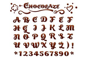Chocolate font on white background