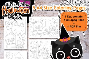 Digital Halloween Coloring Pages