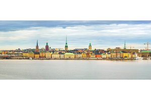 Panorama of the Old Town Stockholm