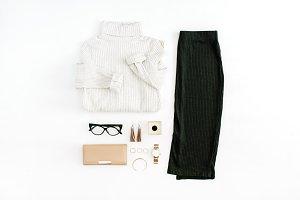 Winter female clothes & accessories