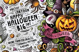 Halloween Cartoon Doodle Pack