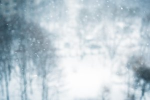 Winter blur background