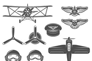 Airplane Icon Set