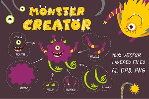 Monster Creator - AI/EPS/PNG