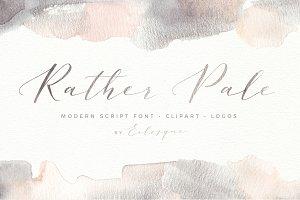 Rather Pale Script, Logos & Clipart