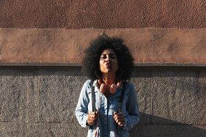 Portrait of beautiful afro woman.