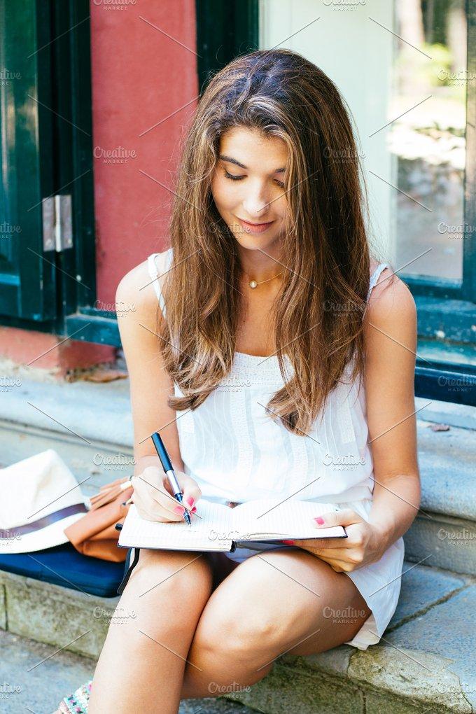 Writing outdoors.jpg - People