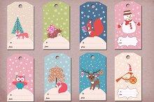 Winter/Christmas gift tags