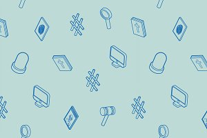 Law outline isometric pattern