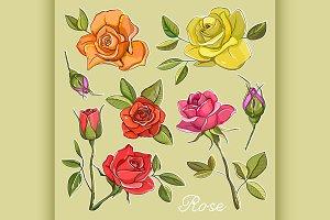 Rose set icons