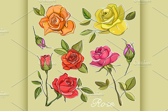 Rose Set Icons