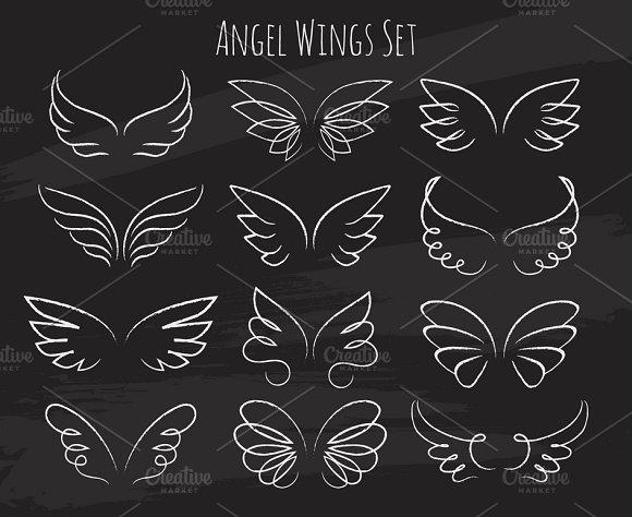 Sketch Of Birds Wings