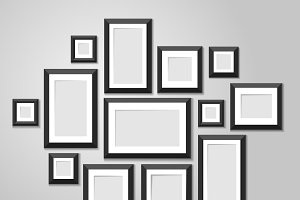 Wall picture frame templates