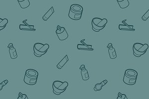 Spa outline isometric pattern