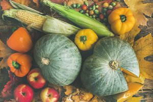 Fall vegetables assortment