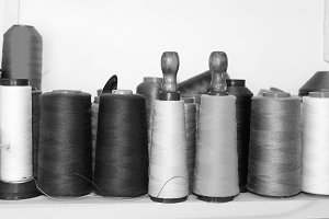Bobbin Sewing in Black and White