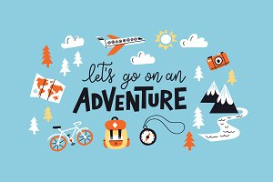 Adventure Lettering Illustrations.