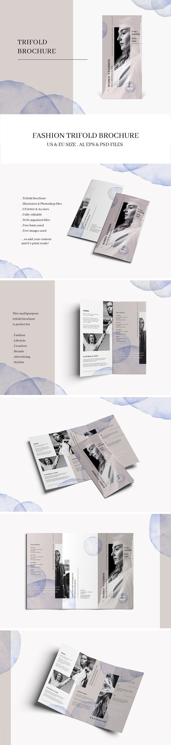 Tri Fold Brochure Templates To Speed Up Your Photoshop Indesign