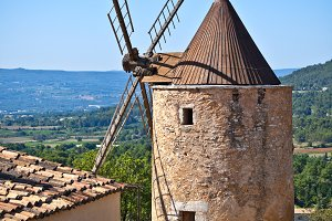 Old stone windmill in Provence