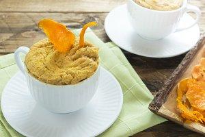 Mug cake pumpkin