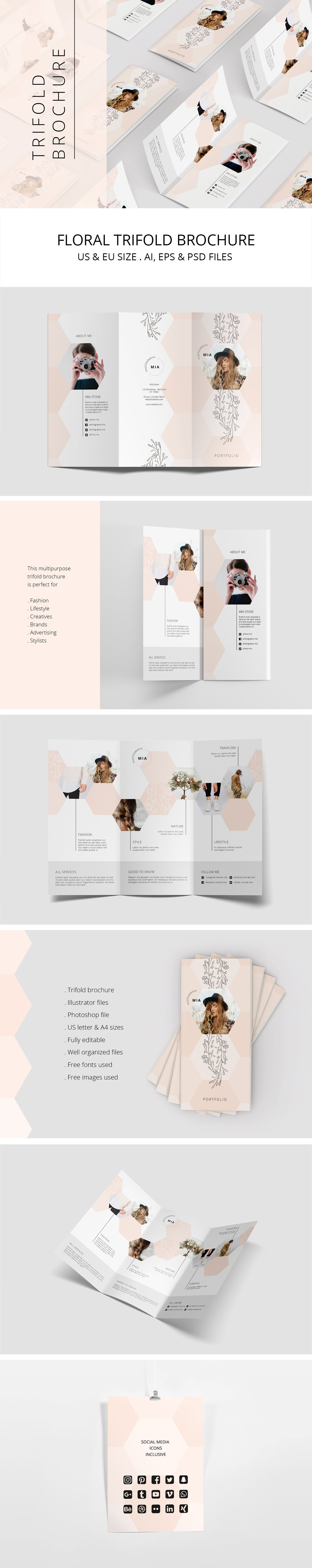20 professional tri fold brochure templates to help you stand out