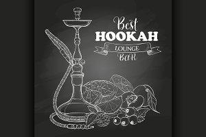 Vector sketch hookah