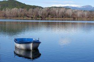 View of Banyoles lake.
