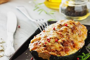 stuffed zucchini with cheese
