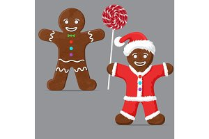 Gingerbread man. set
