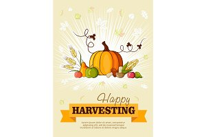 Happy Thanksgiving Day celebration flyer