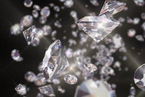 Diamonds Sparcle /Fly Through /Loop