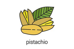 Pistachio color icon