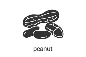 Peanut glyph icon