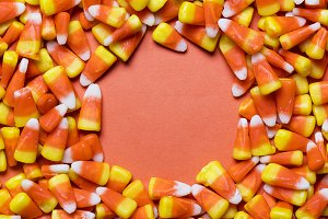 Halloween candy corn background