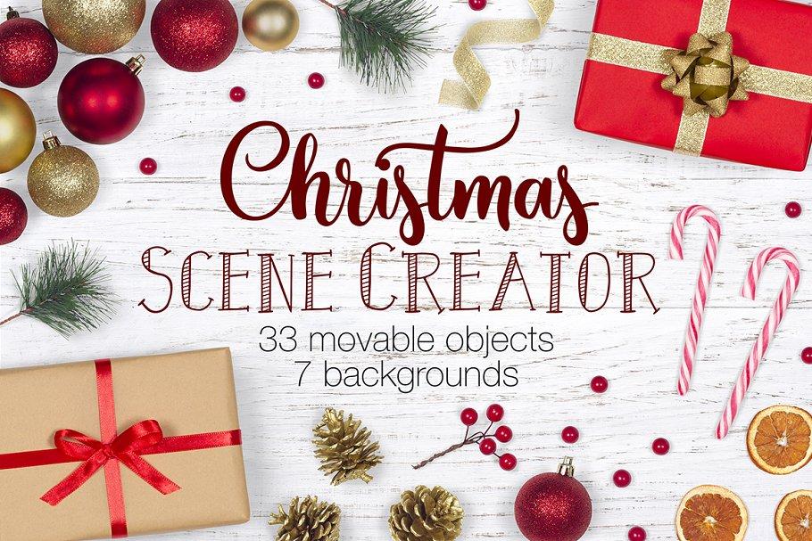 Christmas Top View.Christmas Scene Creator Top View Scene Creator Mockups
