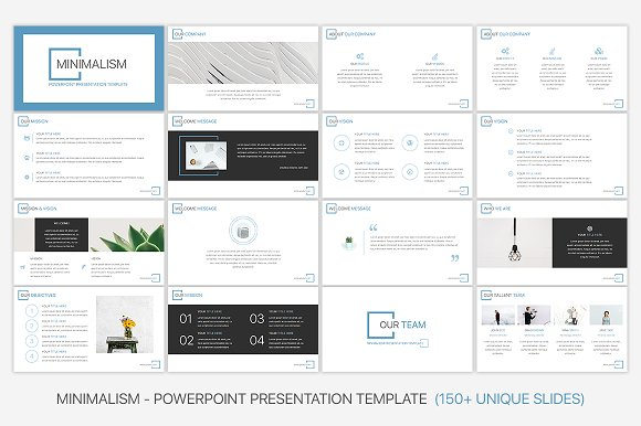 Minimalism Powerpoint Template Presentation Templates Creative