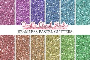 Seamless Pastel Glitter textures