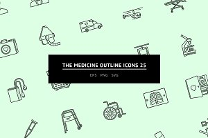 The Medicine Outline Icons 25
