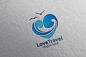 Travel and Tourism logo with Love